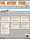 Five No-Prep Mystery Stories, with Quizzes and Answer Keys
