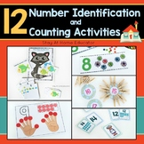 12 Number Identification & Counting Activities - 0-20