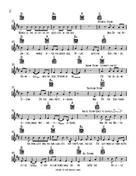 Five Oceans Lead Sheet