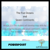 Five Oceans and Seven Continents Powerpoint