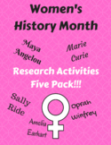 Five Pack - Research Activities (Women's History Month)