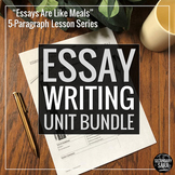 Five Paragraph Essays Lesson Bundle (DISTANCE LEARNING): Unit for ANY Prompt!