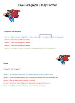Five Paragraph Essay Format