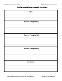 Five Paragraph Essay Graphic Organizer.  Simple format for effective writing.