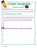 Five Paragraph Essay Graphic Organizer (research component