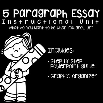 Five Paragraph Essay Unit: What Do You Want To Be When You Grow Up?