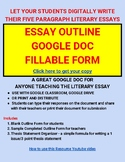 Five Paragraph Essay Outline Organizer for Google Doc, Google Classroom