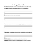 Five Paragraph Essay Outline/Scaffold