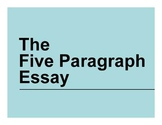 Five Paragraph Essay PowerPoint