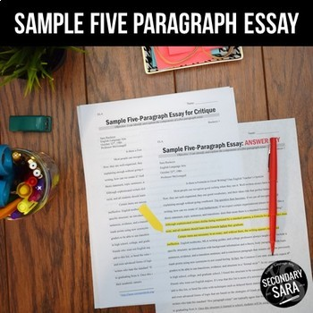Sample Five Paragraph Essay & Activity
