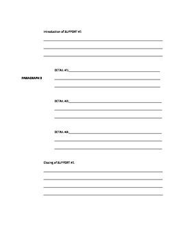 Five Paragraph Essay Template