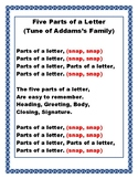 Five Parts of a Letter Song
