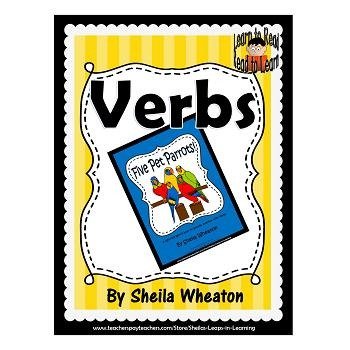 Five Pet Parrots:  A READ TO LEARN Book About Verbs