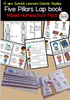 Five Pillars of Islam -Mixed Age Interactive notebook/Lapbook Homeschool Pack