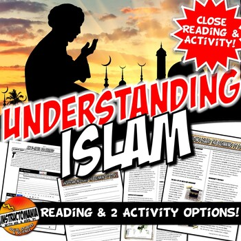 Five Pillars of Islam Close Reading, Worksheet & Advice E-mail Activity