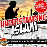 Five Pillars of Islam Close Reading, Worksheet & Advice E-
