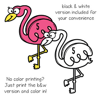 Five Pink Flamingos - Nursery Rhyme Song Props