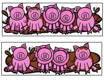 Five Pink Pigs (Pocket Chart Activity)