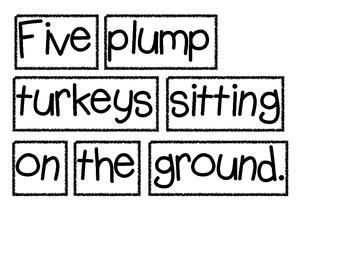 Five Plump Turkeys - Thanksgiving Shared Reading