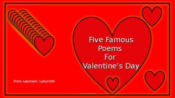 Five Poems For Valentine's Day