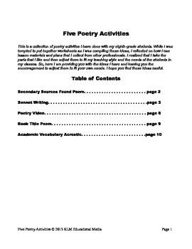 Five Poetry Activities