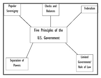 Five Principles of the U.S. Government- Graphic Organizer