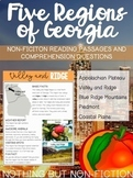 The Five Regions of Georgia Reading Passages
