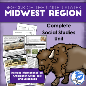 Regions of the United States: Midwest, Complete Unit (5 Regions)