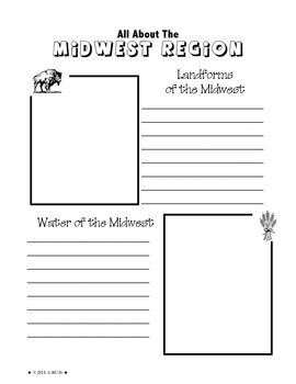 Regions of the United States: Midwest, Scrapbook (5 Regions)