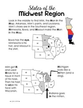 Regions of the United States Midwest Study Guide 5 Regions by