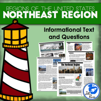Regions of the United States: Northeast, Informational Text (5 Regions)