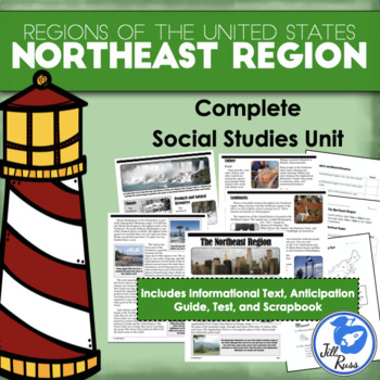 Regions of the United States: Northeast, Complete Unit (5 Regions)