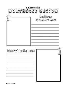 Regions of the United States: Northeast, Scrapbook (5 Regions)