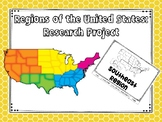 Five Regions of the United States: Research Flapbook Project