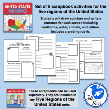 Five Regions of the United States: Scrapbook Bundle