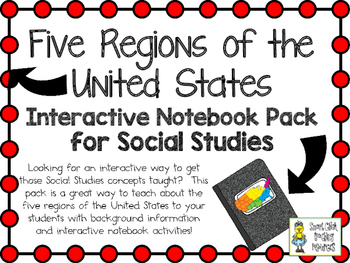 Five Regions of the United States ~ Social Studies Interac