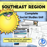 Regions of the United States: Southeast, Complete Unit (5 Regions)