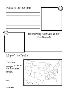 Regions of the United States: Southeast, Scrapbook (5 Regions)