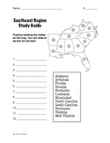 Regions of the United States: Southeast, Study Guide (5 Regions)