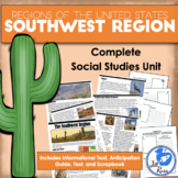 Regions of the United States: Southwest, Complete Unit (5 Regions)