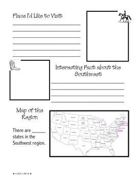Regions of the United States: Southwest, Scrapbook (5 Regions)