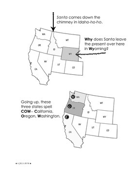 Regions of the United States: West, Study Guide (5 Regions)
