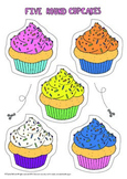 Five Round Cupcakes