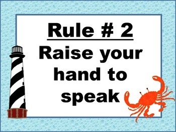 Five Rules Whole Brain Teaching:  Nautical Theme