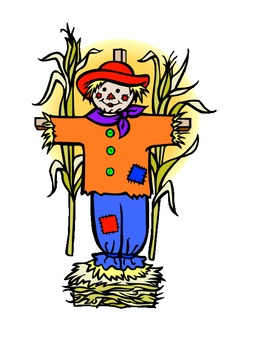 Five Scarecrows Song and Props for Pre-K or Kg