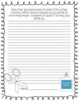 Five School Themed Journal Prompts