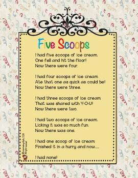 Five Scoops: Flannel board poem