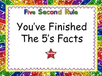 Five Second Rule: Multiplication Facts