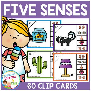 Five Senses Clip Cards