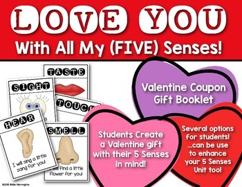 Five Senses Coupon Booklet {Sweet Valentine's Day Gift} Kindergarten & First